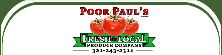 Poor Pauls Produce - Wholesale Produce for Brevard County, Space